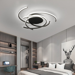 Rooms painted black online shopping - Creative modern led ceiling lights living room bedroom study balcony indoor lighting black white aluminum ceiling lamp fixture