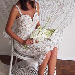 Lace Sleeveless Slim Mini Dresses Australia - Fashion Designer White Black Set Party Women's Sexy Sleeveless Lace Crochet Knitted Slim Fit Spaghetti Strap Tights Dress