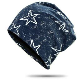 0f3e30d6676e1 Star Hiphop Beanie Hat For Men Women Autumn Winter Cap Bonnet Beanies Retro  Casual Cotton Mens Turban Hats