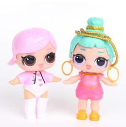 La migliore vendita all'ingrosso - anime action caratteri realistici reborn doll girl 8Pcs / molti giocattoli per bambini 9CM LoL doll con bottiglia US PVC kawaii