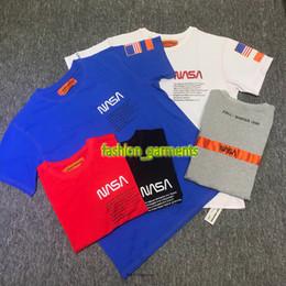 680baac8 HERON PRESTON NASA T-shirt Series Astronaut Short Sleeve Designer Luxury Short  Sleeve Monotype Embroidered Short Sleeve T-shirt