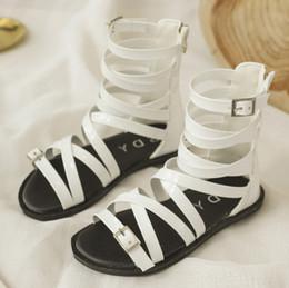 4d8b98c8e63 2019 Summer New Girls roman sandals children cross bind weave sandals kids  high-boot campagus boots girls gladiator sandal shoes F4188