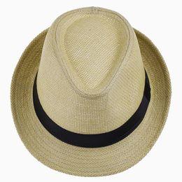 $enCountryForm.capitalKeyWord Australia - LNPBD Hot Unisex Women Men Fashion Summer Casual Trendy Beach Sun Straw Panama Jazz Hat Cowboy Fedora hat Gangster Cap