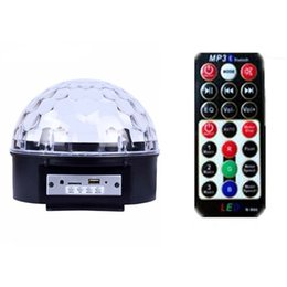 $enCountryForm.capitalKeyWord Australia - 9 Color LED Bluetooth Speaker DJ Stage Light Laser Party Light LED Sound-controlled Rotary Crystal Magic Ball Laser Projection Lamp