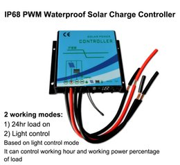 24v solar controller Australia - 10A 15A 20A 12V 24V IP68 Waterproof PWM Solar Charge Controller with Cable for Caravan Boat RV Fencing LED LightOff Grid Solar System