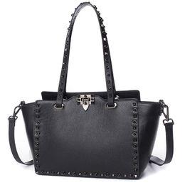 $enCountryForm.capitalKeyWord Australia - Designer-Luxury Designer Handbag Genuine Leather Rock Stud Revit Women Shopper Tote Bags Female Handbag Bolsas