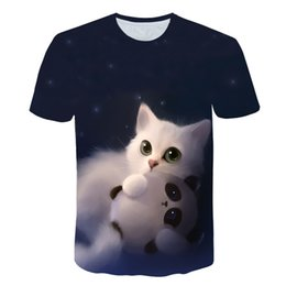 $enCountryForm.capitalKeyWord Australia - Night Cat Lady T-shirt Women's Short Sleeves Top 3d Harajuku Tees Top Plus Size Animal T-shirt T Shirt Women Drop Ship M-5x