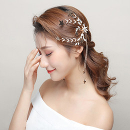 $enCountryForm.capitalKeyWord NZ - Fashion Earring Hair Clip Dual Purpose One Set Star Branch Hairpins Handmade Wedding Accessories Earrings Women Patry Jewelry