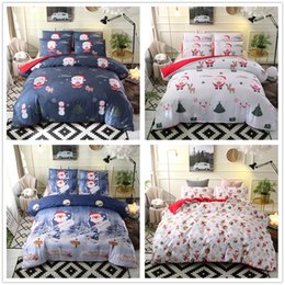 Christmas Red White Bedding NZ - yazi 2 3Pcs Christmas Santa Bedding Set Duvet Cover Pillowcase Sets King Queen Double Single Size Xmas Home Bedroom Decoration