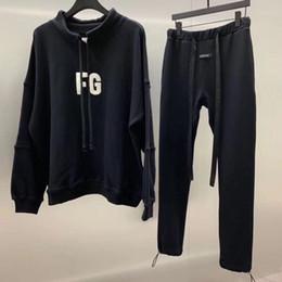 Slim fit trouSerS online shopping - 19SS Latest TOP High Street Hip hop fog style Season Jerry Sweatpants Slim Fit Cotton Leisure Trousers Streetwear ribbon pants