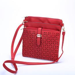 Fashion Small Bag Women Messenger Bags Soft PU Leather Hollow Out Crossbody Bag For Women Clutches Bolsas Femininas Bolsa