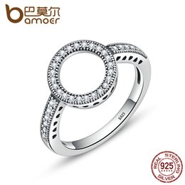 $enCountryForm.capitalKeyWord Australia - dhgate 100% Genuine 925 Sterling Silver Forever Clear CZ Circle Round Finger Rings for Women Wedding Engagement Jewelry SCR041