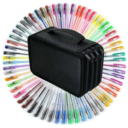 black writing pens Australia - Gel Pens With Pen Case, 60 Gel Pens and 72 slots Pen Bag,for Sketching, Drawing, Writing & Custom Artistic Creations Adult Colorin