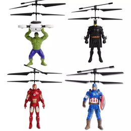 wholesale toys helicopter Australia - Children's Toy The Avengers Helicopter Charging Induction Suspension Vehicle Mini Remote Control Aircraft US Captain