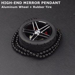 Chains For Mirrors Australia - Car Ornaments Wheel Keychain Rearview Mirror Pendants Keyring Pendants For Car Hanging Metal Key Chain Key ring Perfume Seat