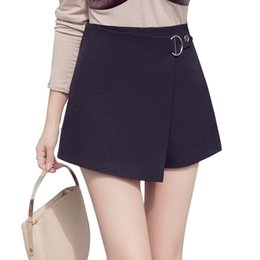 $enCountryForm.capitalKeyWord Australia - New 2019 High Waist Shorts Black White Elegant Office Lady Work Short Pants Plus Size Irregular Bandage Zipper Skirts Shorts