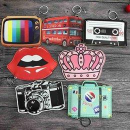Barato Naturgo Monederos carteras de las mujeres pequeño mini lindo titular de la tarjeta de dibujos animados clave auriculares dinero bolsas para damas damas rosa en venta