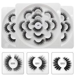 $enCountryForm.capitalKeyWord NZ - 3D Mink Hair Lotus Eyelashes Handmade Winged Full Strip Lashes 7 Pairs Pack Eye Makeup False Eye Lash Free Shipping