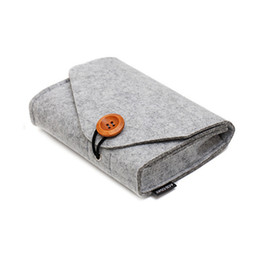 Data Power Bank UK - Key Coin Bags Package Mini Felt Pouch Home Storage Organization Earphone SD Card Power Bank Data Cable Travel Organizer
