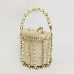 ladies rhinestone handbags Canada - high grade mini bucket handbag for women 2020 new beaded rhinestone lady trendy celebrity ins mini bag tote bag messenger