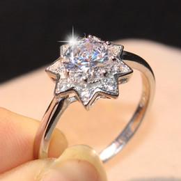 $enCountryForm.capitalKeyWord Australia - Victoria Wieck Cute Korean Stunning Fashion Jewelry Real 100% 925 Sterling Silver Round Cut White Topaz CZ Diamond Women Wedding Band Ring