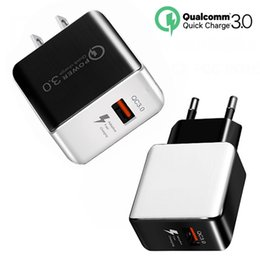 huawei qualcomm UK - Qualcomm QC3 .0 Single USB Double-sided Open Fast Charging Standard Plug for Huawei Xiaomi Mobile 9V European Standard Charger
