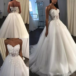 Sexy See Through Corsets Australia - Noble Special Occasion Wedding Dresses Lace Appliques Sleeveless Sweetheart See Through Corset Tulle Backless Long skirt