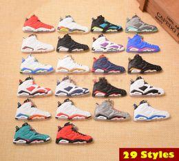$enCountryForm.capitalKeyWord Australia - New Mini Sneaker Keychains Charm Basketball Shoes Model Keyring AJ Key Chain Bag Backpack Pendant Key Holder Creative Gift Souvenirs C90L F