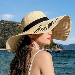sun hat net Australia - Grass female sun shade beach Hats & Caps Hats, Scarves & Gloves beach big hat eaves Korean version of the holiday travel net red small fresh