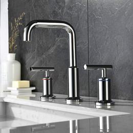 $enCountryForm.capitalKeyWord Australia - 100% Soild Brass Double Handles Bathroom Basin Water Mixer Separate Style Sink Faucet Chrome Matt Black Brushed Gold Tapware