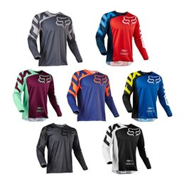 Foxes shirt online shopping - Explosion models hot downhill service fox TLD bicycle clothing cycling suit sweater racing suit long sleeved motorcycle clothing