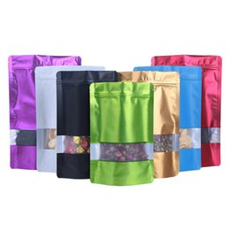 $enCountryForm.capitalKeyWord Australia - 1000pcs lot Colorful Doypack Aluminum Foil Plastic Zip Lock Package Bag with Window Mylar Retails Zipper Pouch for Food Storage