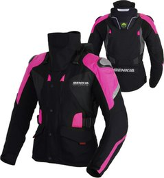 pink motorcycle jackets Australia - BENKIA Womens Motorcycle Jacket Winter Motorbike Riding Jacket Removable Waterproof and Warm Lining Female Motocross