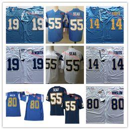 64933f37 Mens 1995 Vintage #55 Junior Seau Football Jersey Stitched blue #14 Dan  Fouts #19 Lance Alworth #80 Kellen Winslow Jersey S-3XL