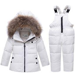 $enCountryForm.capitalKeyWord Australia - Boys Down Clothes Children Clothing Set for Boy Down Cotton Parkas Jacket Coat +Overalls Warm Windproof Snowsuit Toddler Kid Ski Suit