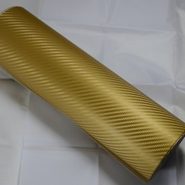 $enCountryForm.capitalKeyWord NZ - Gold 3D carbon fiber vinyl wrap Car Wrapping Film Sheets With Air Drain Top quality 1.52x30m Roll 4.98x98ft