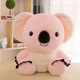 teddy couples gifts UK - Creative Koala Plush Toy Suitable Customized Business Mascot New Couple Soft Doll Cute Birthday Child Gift