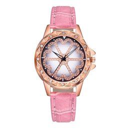 Women Watch Beauty Australia - Women Fashion Gift Creative Leather Band Analog Quartz Round Wrist Watch Girls Beauty Simple Watches