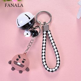 pattern decor NZ - Creative Fashion Cartoon Pattern Keychain Decor Geometric 40g Gifts Bell