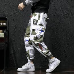 white punk pants 2019 - Be.YuMiao 2018 Fashion Hip Hop Men Pants Lace up Joggers Pants punk West Loose Streetwear Trousers Mens sweatpants panta