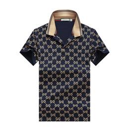 Wholesale quality shirts cotton men for sale – custom hot sale New fashion mens tshirt summer short top quality cotton POLO shirts famous designers brand slim fit t shirt men M XL P48