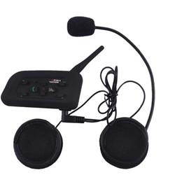 Helmets speakers online shopping - VNETPHONE V6 Intercom Helmet Multi Interphone Motorcycle Bluetooth Intercom Headset Speaker for Riders IP65 MP3 GPS