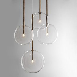 modern glass bottle pendant lights 2021 - Clear Simple Creative Glass Lights Bar Coffee Shop Simple Chandelier Iron Droplight Experimental Bottle Lampr Frosted Glass