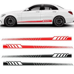 $enCountryForm.capitalKeyWord Australia - Auto Car Waist Side Skirt Decoration Stickers AMG Edition Racing Stripe Side Body Garland for Mercedes Benz C Class W204 W205 GGA1733