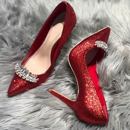 61d07b7482 Hot Sale-quality Women Shoes High Heels Wedding Thin Heels Diamond  Glittering Evening luxury Dress Shoe Bride Shoes Crystal Pumps For Party