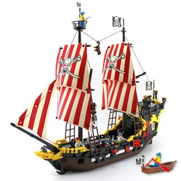 Black Blocks Australia - Enlighten Blocks 870+pcs Pirates Ship Black Pearl Model Compatible LegoINGly Building Blocks Educational Building Toys Kids Gift