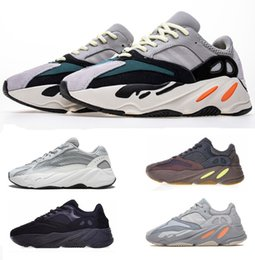 Discount leather lined running shoes - Wave Runner 700 Kanye West Glow in Dark Reflective line 2019 New Running shoes With bottom and 3M material size 36-46