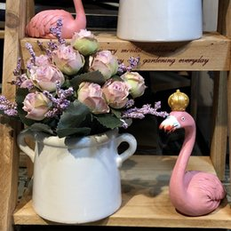 Discount store window displays - Silk Artificial Potted July Rose Back to ancients Pot Greenery DIY Indoor Kitchen Dining Table Furniture Store Window Di