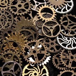 $enCountryForm.capitalKeyWord Australia - 10pcs Vintage Mixed Steampunk Punk Style Gear Cogs Pendants Necklace Accessories DIY Jewelry Making