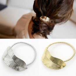 Gold Hair Holder Australia - Hair Jewelry Brand New Fashion Women Vintage Hair band High Quality Gold Silver Plated Alloy Leaf Pony Tals Holder Wholesale LHR001